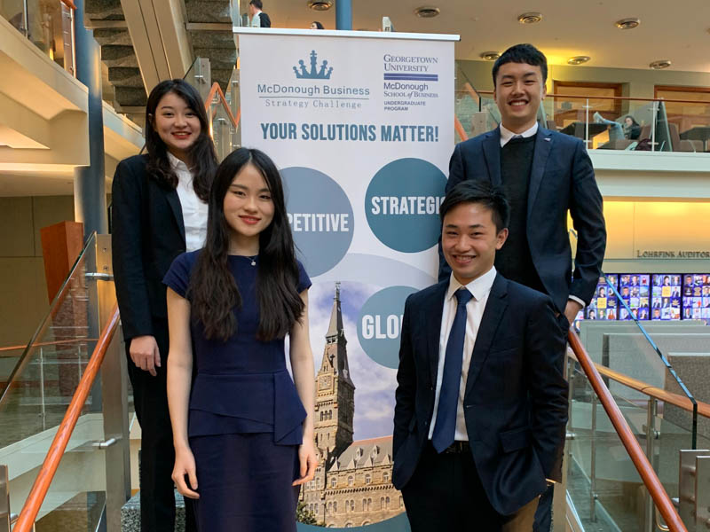 Undergraduate students take part in business case competition in Washington DC